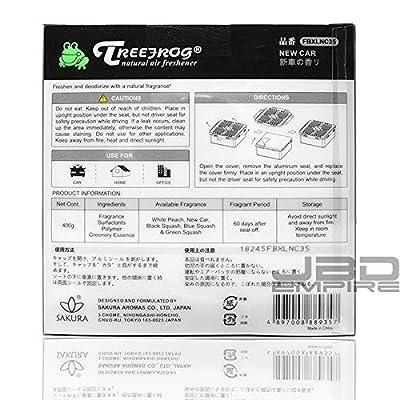 JBD Empire Treefrog Xtreme Fresh Box XL Air Freshener Scent Extra Large 400g - Black Squash/Blue Squash/Green Squash/White Peach/New Car (New Car): Automotive