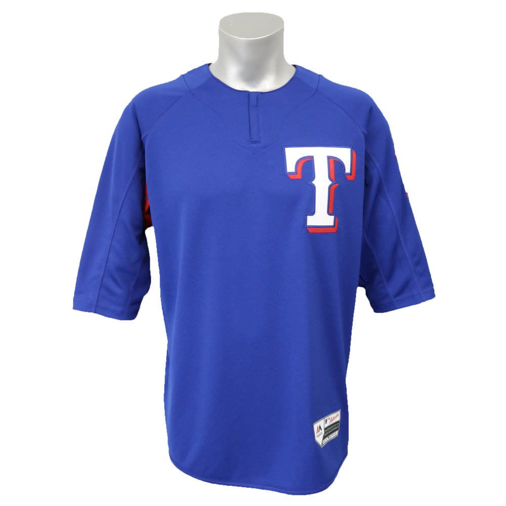 Majestic(マジェスティック) MLB テキサスレンジャーズ ダルビッシュ有 オーセンティック オンフィールド BP ユニフォーム (ロイヤル) Small  B06WV9TSF5