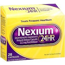 Nexium 24HR Delayed Release Heartburn Relief Capsules, Esomeprazole Magnesium Acid Reducer (22.3mg, 28 Count)