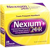 Nexium 24HR Delayed Release Heartburn Relief Capsules, Esomeprazole Magnesium Acid Reducer (22.3mg, 28 Count)