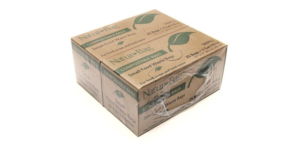 natur-bag nt1075-rtl-00004 Compostable Bolsa de plástico, 3 Gal (Pack de 500)