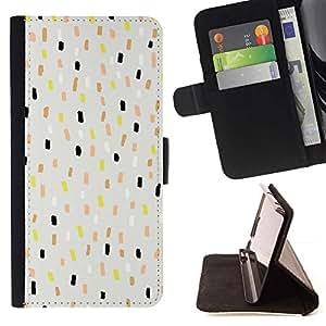 For LG Nexus 5 D820 D821 Case , Patrón de puntos azules Niños Niños Spots Gris- la tarjeta de Crédito Slots PU Funda de cuero Monedero caso cubierta de piel