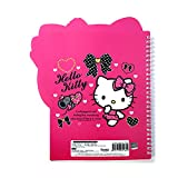 Sanrio Hello Kitty School Supply Kitty Face Die Cut Spral Notebook Note Pad (pink)