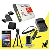 Halcyon 1400 mAH Lithium Ion Replacement NP-BG1 Battery and Charger Kit + Memory Card Wallet + SDHC Card USB Reader + Deluxe Starter Kit for Sony CyberShot DSC-HX30V, DSC-HX20V, DSC-HX5V, DSC-HX7V, DSC-HX9V, DSC-H3, DSC-H7, DSC-H9, DSC-N1, DSC-N2, DSC-T10
