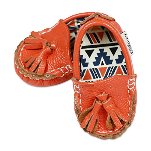 - Little Monkey {Sweet Potato Pie} Leather & Fabric Lined Moccasin Infant Baby Newborn Boy Girls Shoes Baby Moccs (18-24 Months)