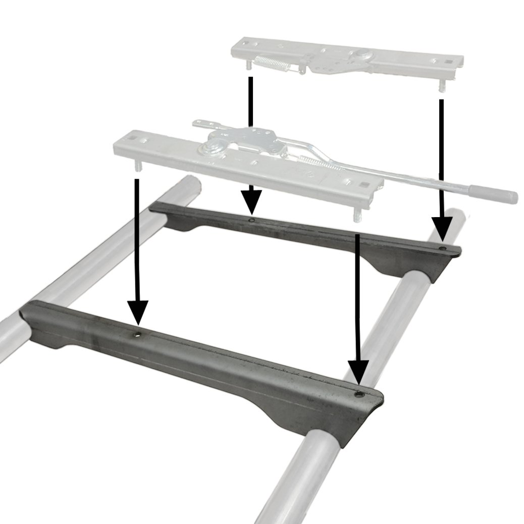Weld On Seat Slider Mounting Pedestals For 1-1/2' Tubing Moore Parts