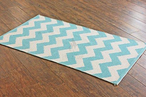 storewide-sale-hot-weave-handwoven-and-handmade-2-x-36-aqua-blue-chevron-pattern-rug-mat-style-1657