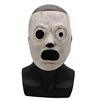 c6311b1f6 BestCoser Slipknot Mask Corey Taylor DJ Mask Breathable Latex Halloween  Cosplay Costume Prop Adults (Corey