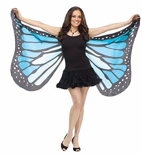 60s Costumes Guys (Butterfly Wings Soft Fabric Adult Costume Accessory One Size Blue Teal)
