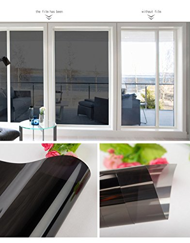 HOHO Window Solar Film Low Reflective Heat Control One Way Mirror Privacy Residential Glass Tint Stickers(70cmx1000cm) by HOHO