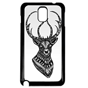 Cover for Samsung Galaxy Note 3 Deer stag head ornate pattern VTG art Phone case
