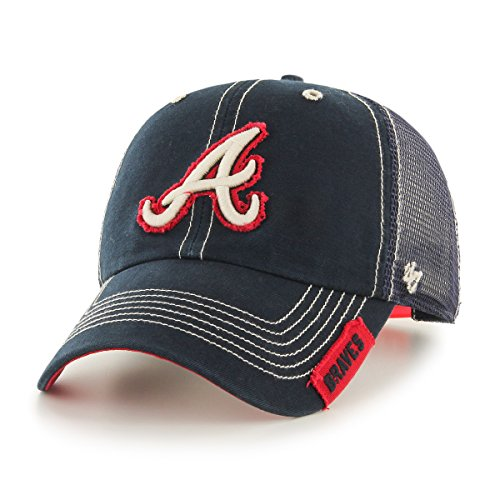 MLB Atlanta Braves Turner Clean Up Adjustable Hat, One Size, Navy - Braves Mlb T-shirt