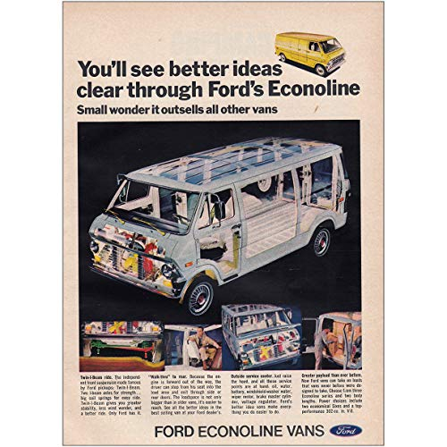 - RelicPaper 1970 Ford Econoline: Better Ideas Clear, Ford Print Ad