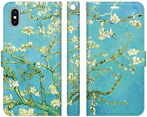 ブレインズ iPhone 11 手帳型 ケース カバー ゴッホ 花咲くアーモンドの木 絵画 名画 フィンセント ファン ヒマワリ