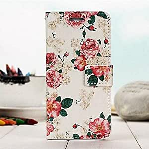 WQQ Fashion Color Cartoon Cherry Blossom PU Full Body Case with Stand for iPhone 6 Plus