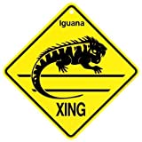 Iguana Xing caution Crossing Sign wildlife Gift