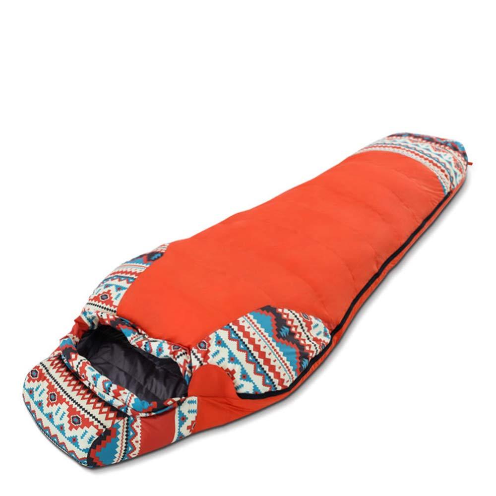 WXL Sac de Couchage Camping en Plein air pour Adulte Portable Double avec artefact de Voyage,Orange-215  78  55 Orange 2157855