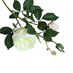 FILOL Artificial Rose Flower Leaf Floral Bridal Wedding Bouquet Home Wedding Decor Fake Flowers Party Decor Real Touch Flower (B) 113