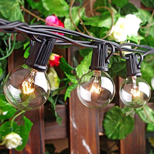 Patio Lights Party String Lights G40 Globe Bulbs Warm White Outdoor Indoor  Night Lighting 25 Bulbs Dancing ...
