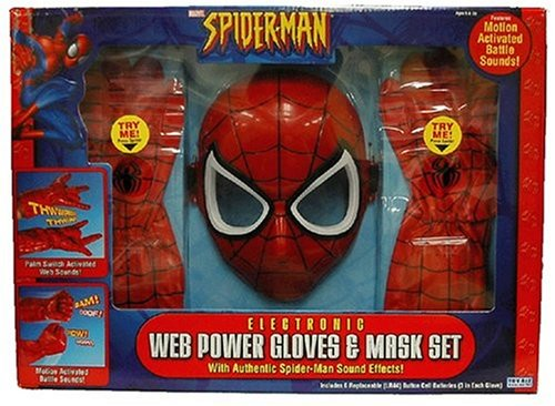 Spider-Man Web Power Glove & Mask (Spiderman Mask And Gloves)