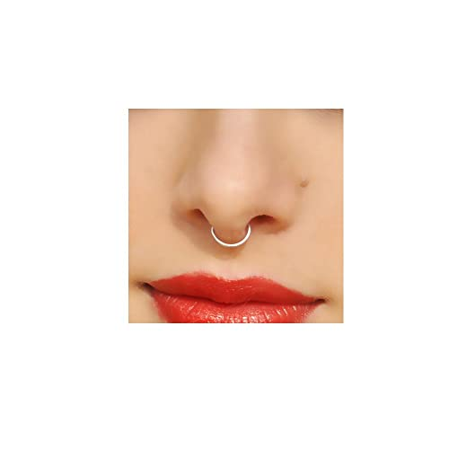 Amazon Com Nose Ring Hoop Real Piercing Body Jewelry Septum Ring 6mm To 12mm 20 22 Gauge Benittamoko Handmade
