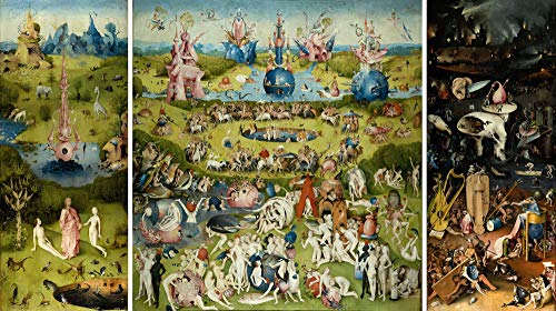 (1/23000 Hand Painted Art Paintings by University Professors - The Garden of Earthly Delights by Hieronymus Bosch Oil Painting Reproduction on Canvas - Old Famous Works for Collection and Wall Decor)