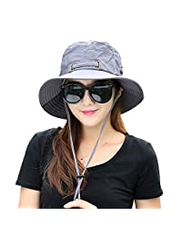 Kafeimali Summer Sun Men/Women Wide Brim UV Beach Caps Sports Fishing Hats