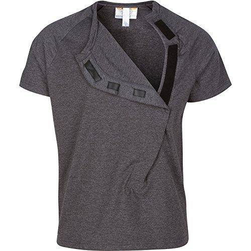 DadWare Cotton Bondaroo Skin to Skin Kangaroo Care Bonding T-Shirt (Char Large) Charcoal