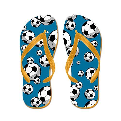 Cafepress Soccer - Flip Flops, Grappige String Sandalen, Strand Sandalen Oranje