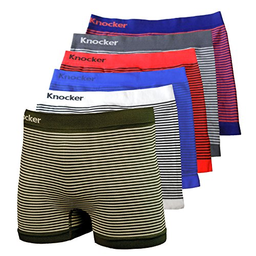 Nylon Stretchable Compression Boxer Brief 6-pcs Set, Assorted Colors