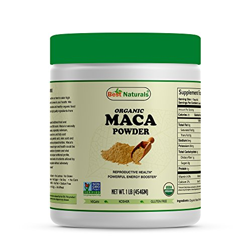 Best Naturals Certified Organic Maca Root Powder 1 lb (454 Gram), Non-GMO Project Verified & USDA Certified Organic Review