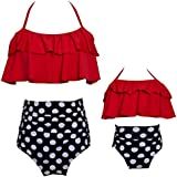 Kokowaii Fancy Big Girls Swimsuit Size 8-14 Kids Swimwear Girls Bathingsuit