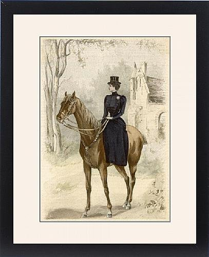 Framed Print Of Riding Habit (Side Saddle Riding Costume)