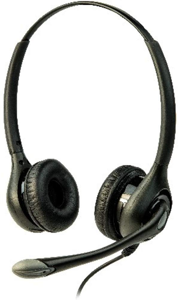 Listen Technologies LA-453 ListenTALK Headset 3 Over Head Dual with Built-in Boom Microphone, Black and Gray, Over-The-Head Fit for Comfortable and Secure Wear, Unmatched Audio Performance