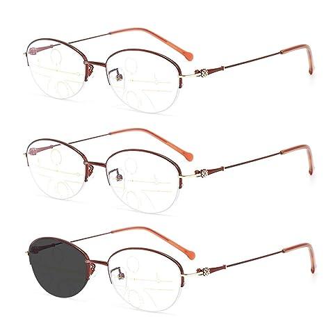 Gafas de Lectura para Mujer, Paquete de 3 Gafas progresivas ...