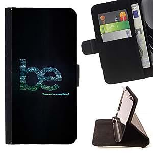 Momo Phone Case / Flip Funda de Cuero Case Cover - Sea creativo Ayuda Cita Wise Tipo Todo - Sony Xperia M4 Aqua