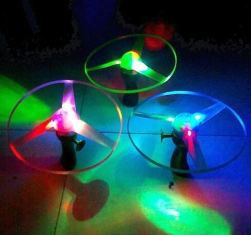 UNAKIM-LED Lights 2016 UFO Multi Color Helicopter Flying Saucer Outdoor Educational - Ufo Sunglasses