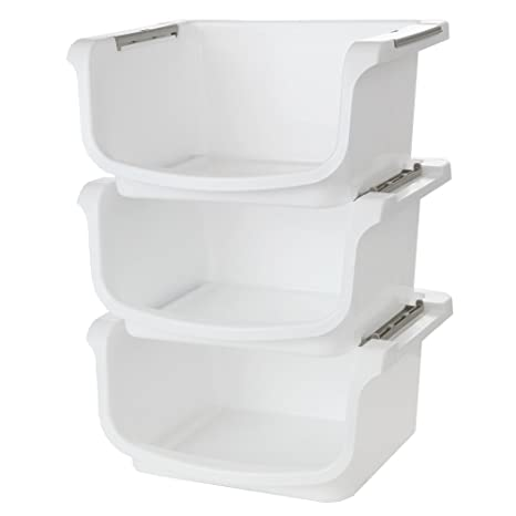 Amazoncom Nesting and Stackable Storage Bins Set of 3 by Home X