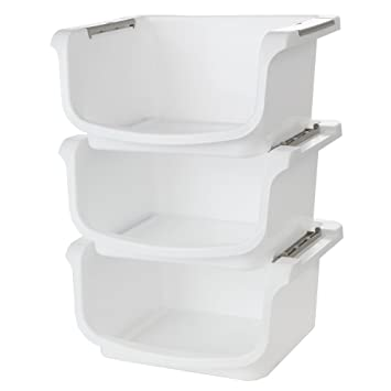 homex nesting and stackable storage bins set of 3
