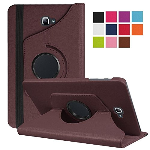 (Cover for Galaxy TabA 10.1,Samsung Galaxy Tab T580 Case,Galaxy T580 Stand Case,Samsung T585 Leather Cover,Premium PU Leather 360 Degree Rotating Case for Samsung Galaxy Tab A T585 10.1