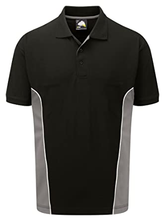 Orn Men S Two Tone Contrast Cotton Work Wear Polo Shirt At Amazon