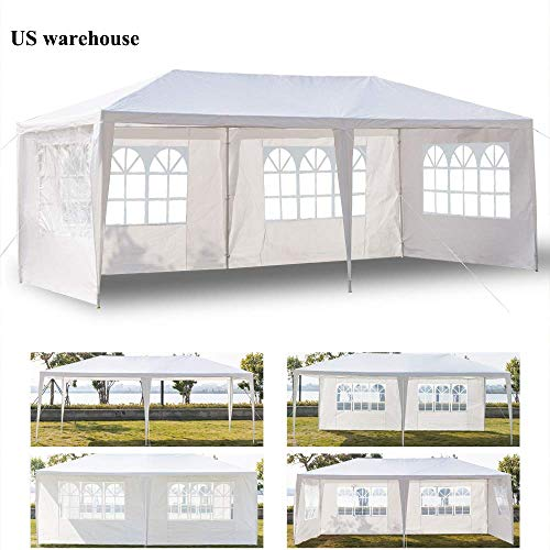 Teekland 10'x20' Outdoor Canopy Party Wedding Tent,Sunshade Shelter,Outdoor Gazebo Pavilion with 4 Removable Sidewalls ()