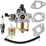 HIPA Carburetor with Fuel Filter for Honda HRB215 HRC215 HRM195 HRM215 Lawn Mower