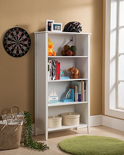 Amazon.com: Kings Brand Furniture Wood 4-Shelf Bookcase