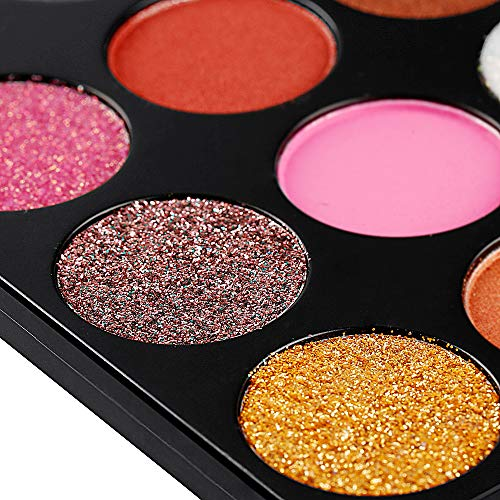 Eyeshadow Makeup Palette, Valuemakers 35 Colors Waterproof & Ultra Pigmented Make-up Eye Shadows- Pressed Glitter and Shimmery EyeShadow Powder Cosmetic Makeup Set by FiveBull (Image #4)