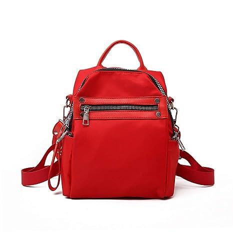 cb8c4b7958 Xcstdjx Zaino Da Viaggio Moda Nylon Signore Rosso Zaino Femminile Casual  Stile Di Colore Di Contrasto
