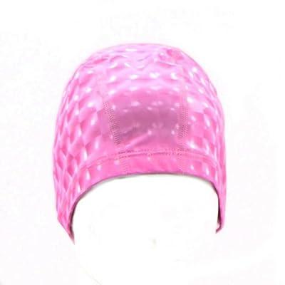 Asentechuk® élasticité Homme Femme Cube d'eau 3d Revêtement PU imperméable et respirant Bonnet de bain