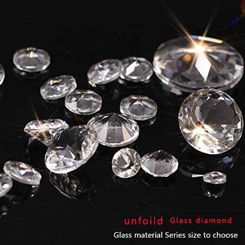 (Calvas 6/8/10/12/14/16/18/20/25mm Round Point unfoiled Back Crystal Stones Rhinestones Jewels Bridal Wedding Party Table Scatter Gifts - (Item Diameter: 50pcs 6mm))