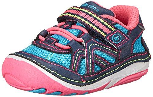 Stride Rite SRT SM Bristol Sneaker (Infant/Toddler),Blue/Pink,3 M US Infant