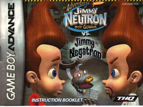 (Jimmy Neutron vs Jimmy Negatron GBA Instruction Booklet (Game Boy Advance Manual Only - NO GAME) (Nintendo Game Boy Advance)